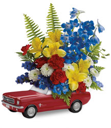 Teleflora's '65 Ford Mustang Bouquet  from McIntire Florist in Fulton, Missouri