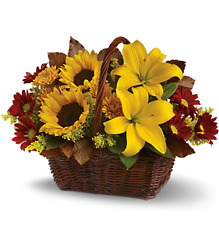 Golden Days Basket from McIntire Florist in Fulton, Missouri