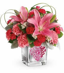 Teleflora's Jeweled Heart Bouquet from McIntire Florist in Fulton, Missouri