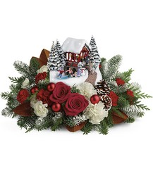 Thomas Kinkade's Snowfall Dreams Bouquet from McIntire Florist in Fulton, Missouri