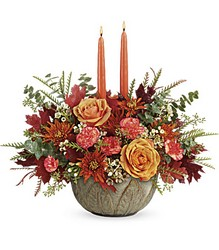 Teleflora's Artisanal Autumn Centerpiece from McIntire Florist in Fulton, Missouri