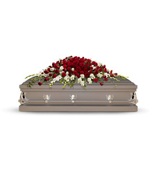 Garden of Grandeur Casket Spray from McIntire Florist in Fulton, Missouri