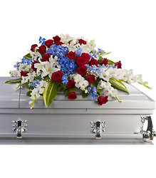 Distinguished Service Casket Spray from McIntire Florist in Fulton, Missouri