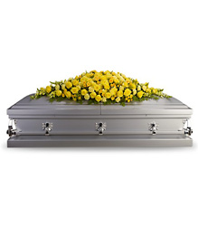 Golden Garden Casket Spray from McIntire Florist in Fulton, Missouri