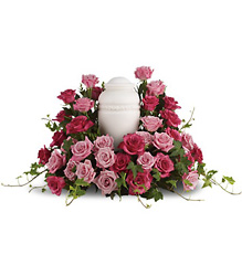 Bed of Pink Roses from McIntire Florist in Fulton, Missouri