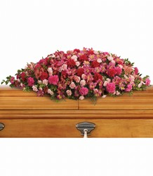 A Life Loved Casket Spray from McIntire Florist in Fulton, Missouri
