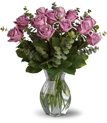 One Dozen Lavender Roses from McIntire Florist in Fulton, Missouri
