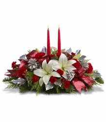 Lights Of Christmas Centerpiece from McIntire Florist in Fulton, Missouri