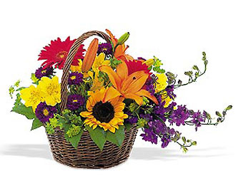 Basket of Blooms from McIntire Florist in Fulton, Missouri